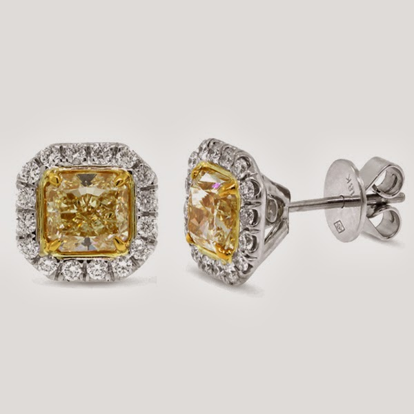 ... Yellow Diamond Stud Earrings That Either A Man Or A Woman Could Wear Yellow Diamond Stud Earrings