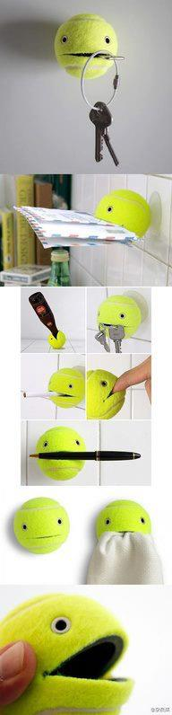 bola de tenis para segurar objetos
