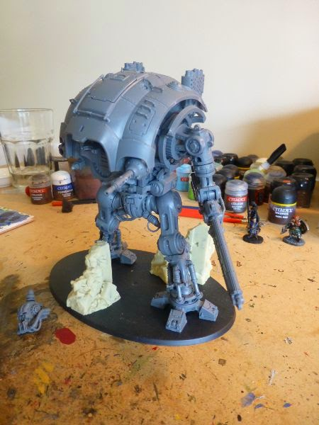 40k WIP imperial knight construction - left side