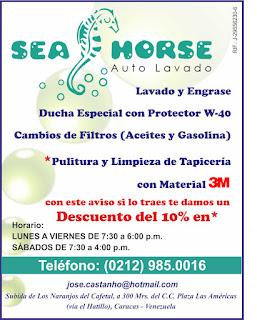 SEA HORSE AUTO LAVADO en Paginas Amarillas tu guia Comercial