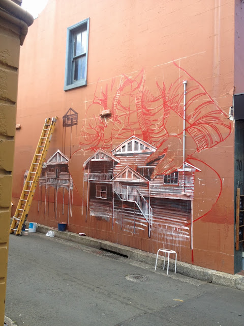 Street Art By Fintan Magee In Wollongong, Australia For THe Wonder Walls Urban Art Festival. 2