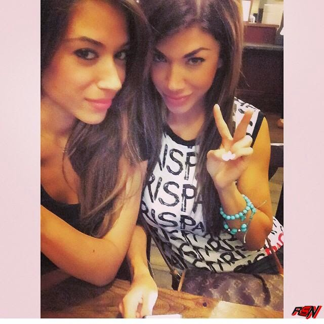 Rosa Mendes Hanging Out with Her Cute Sister.