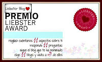 Octubre - 2012: Premio LIEBSTER AWARD