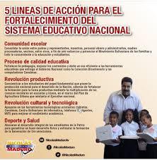 5 líneas de acción para el Fortalecimiento del Sistema Educativo Nacional