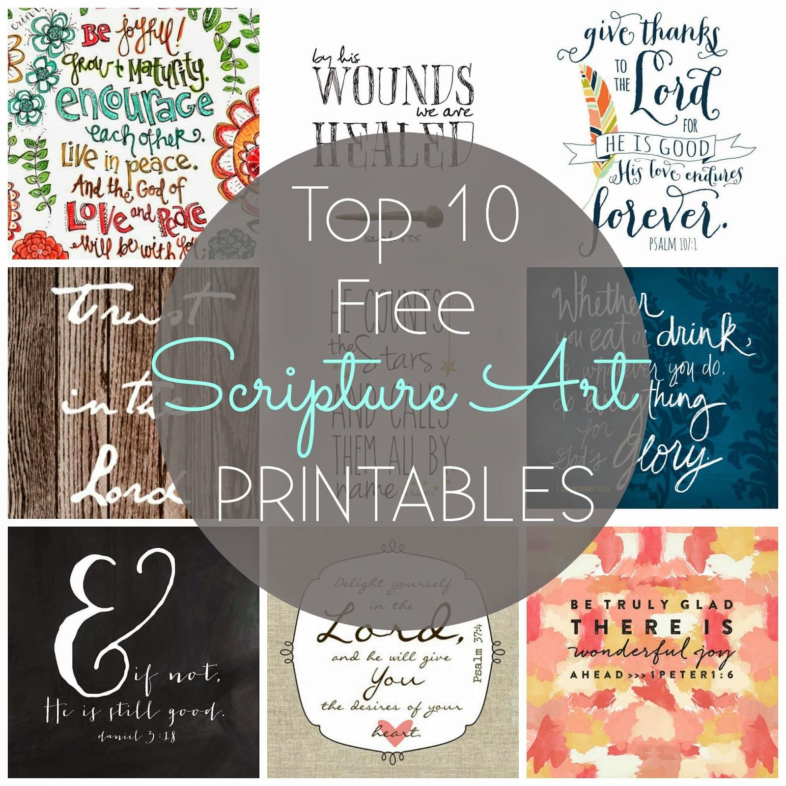 Inventive image regarding free printable scripture art