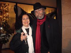 Con mi amiga y pintora Carmen Moreno