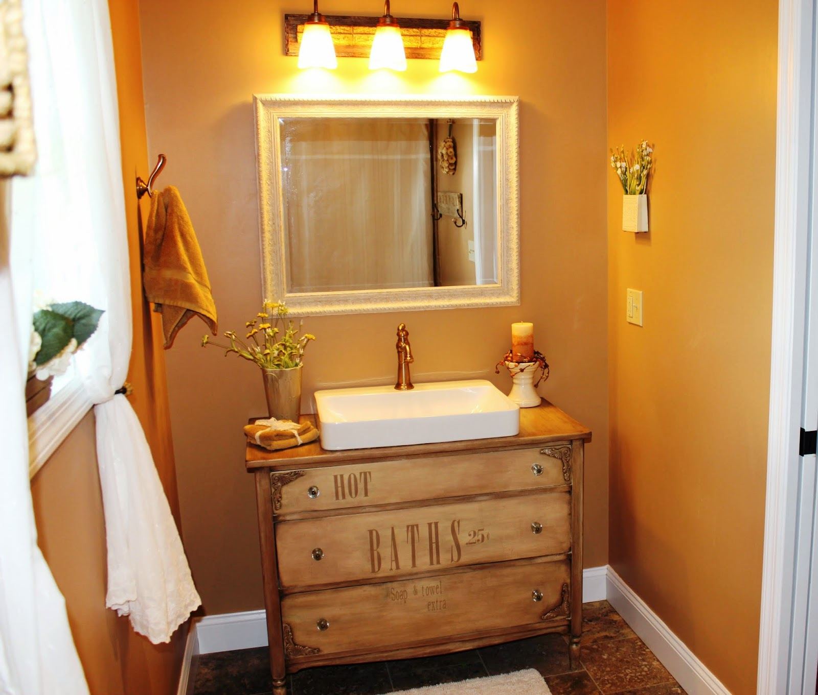 Fern Avenue: Turning a dresser into a Vanity for the bathroom