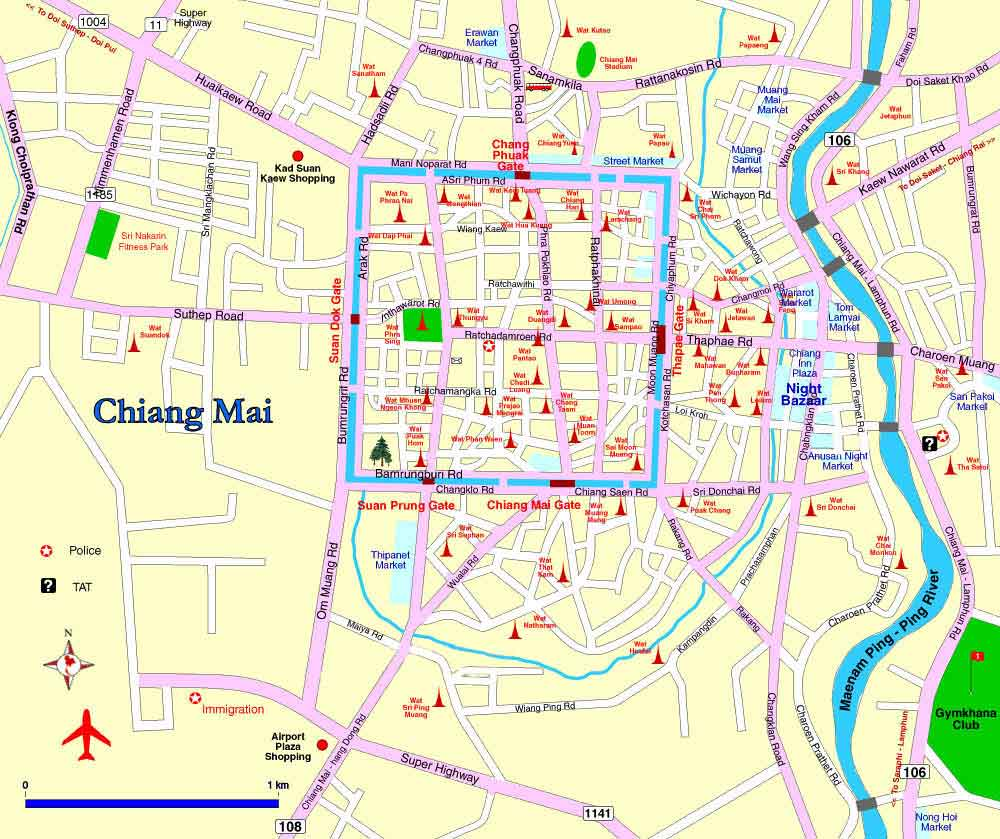 One day Ill fly away April 2012 – Bangkok Tourist Map Pdf