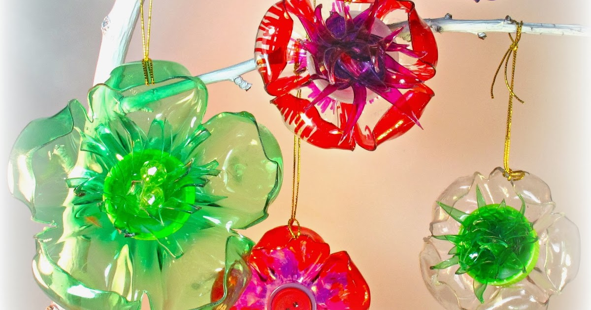 Blukatkraft diy recycled plastic bottle crafts kid 39 s crafts for Recycled christmas decorations using bottles