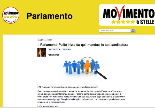 Bianco e nerro addio al portaborse m5s in cerca di for Assistenti parlamentari m5s