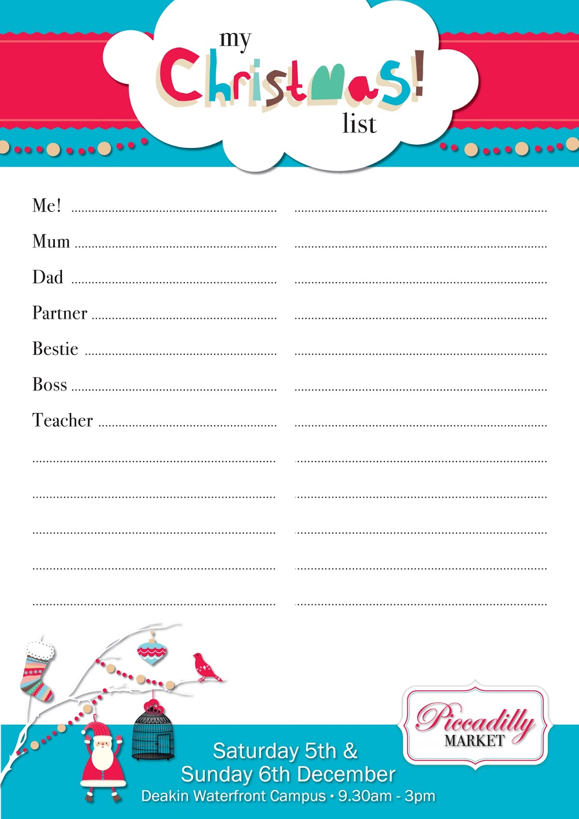 Doc736952 Christmas Wish List Printable 17 Best ideas about – Christmas Wish List Printable