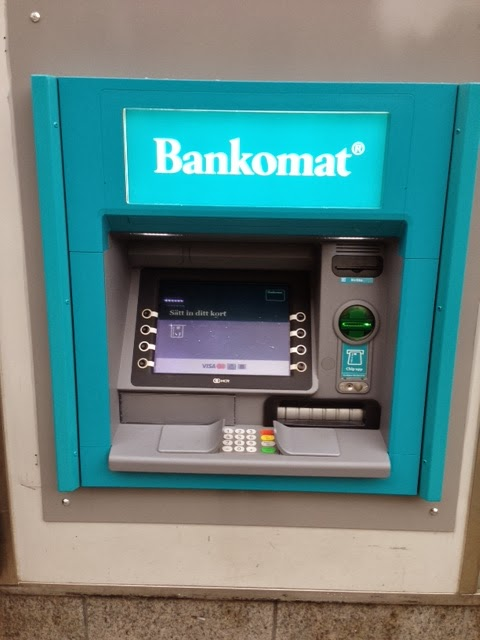 Ta ut euro i bankomat eller forex