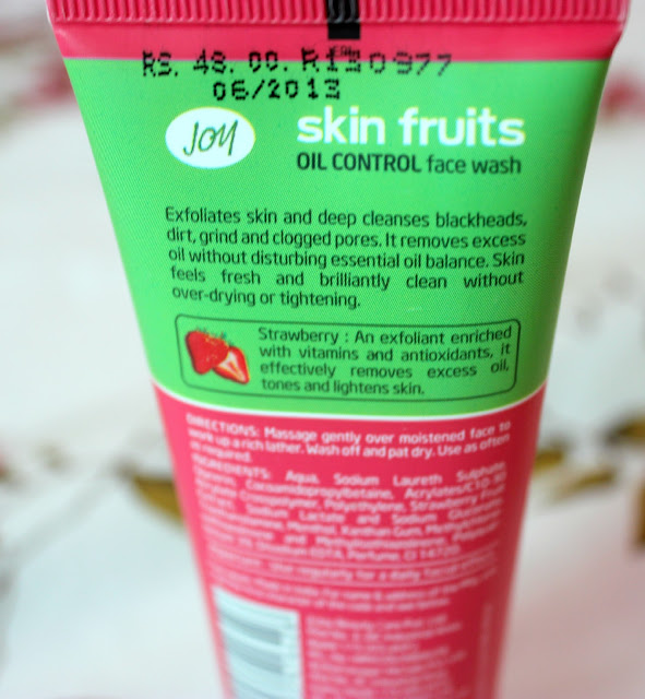 Joy Skin Fruits Oil Control Face Wash Review