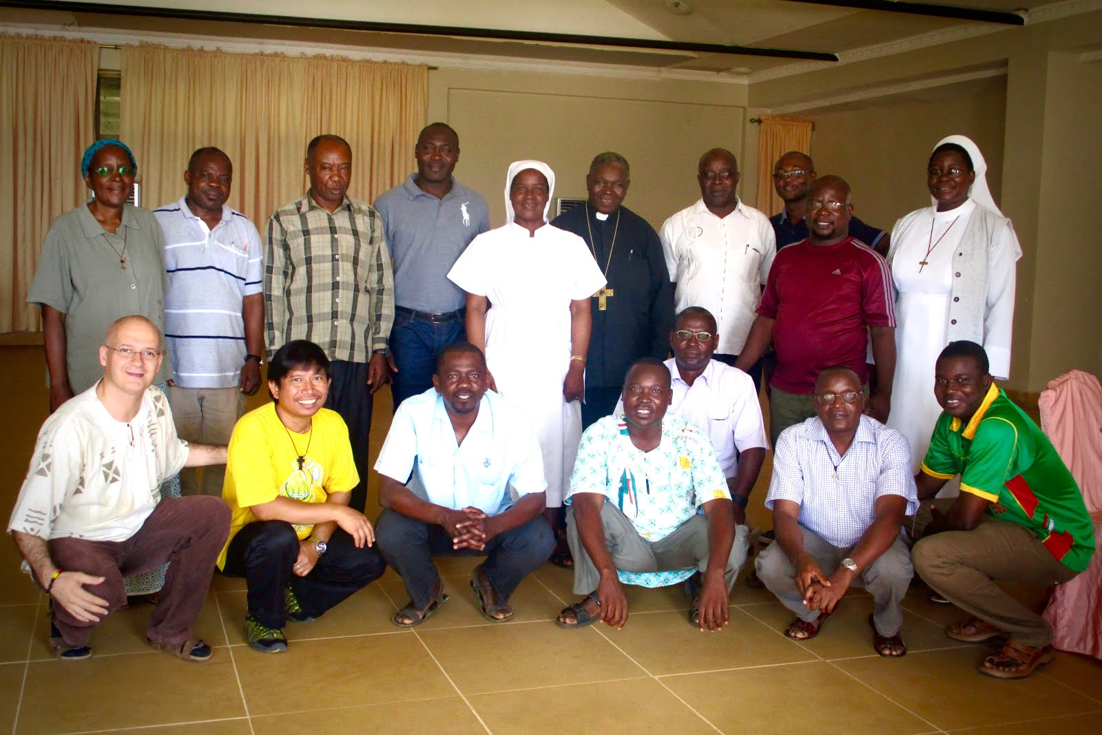 PARTICIPANTS WITH THE BISHOP OF MOROGORO TELESPHOR MKUDE