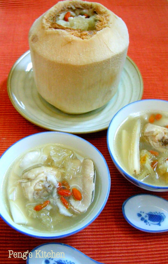 chicken soup #3 : double-boiled coconut chicken soup 椰子炖鸡汤