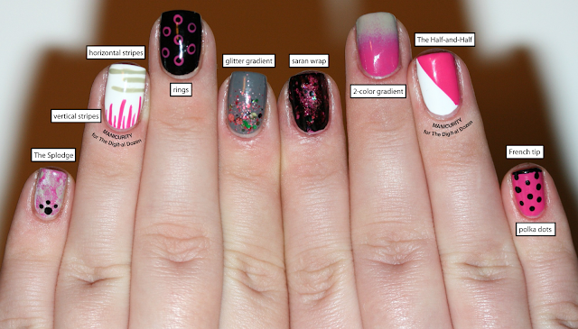 A Dozen Easy Nail Art Patterns The Digit Al Dozen Nails Ideas