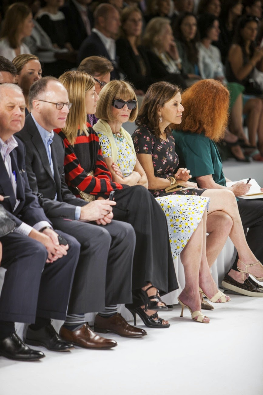 Anna Wintour, editor-in-chief of American Vogue at Carolina Herrera's show in New York City.