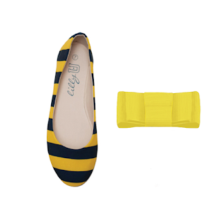 West Virginia Mountaineers Flats / Yellow Shoe Clips