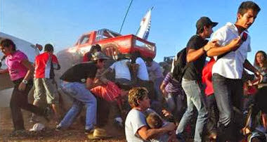 Brutal Accidente en aeroshow de Chihuahua