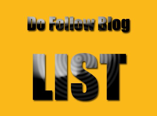 Daftar dan Kumpulan Blog Dofollow 2014