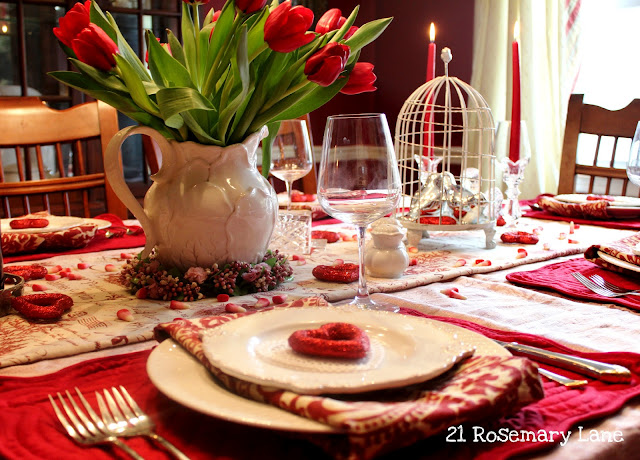 21 rosemary lane st valentine 39 s day tablescape and vignette