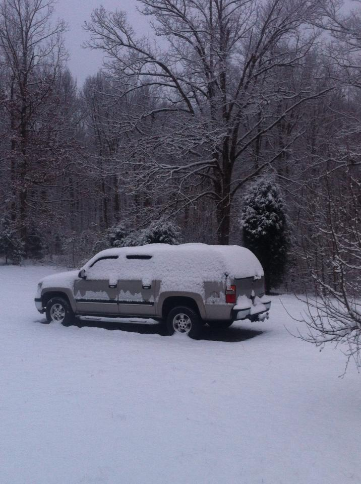 "Around 3"" in north Butler County. Photo by Mike Newland."