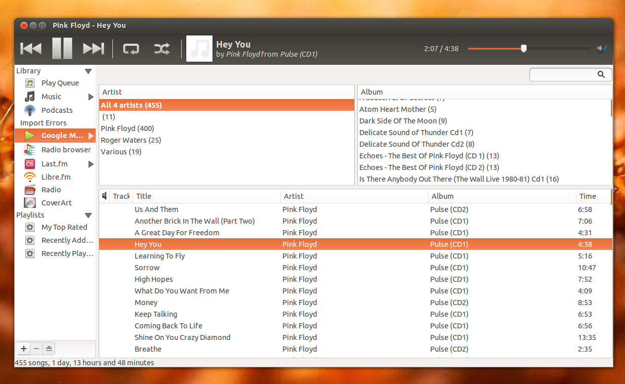 Sicronizar Google Play Music con Rhythmbox, google play music ubuntu, sincronizar cuenta play music ubuntu