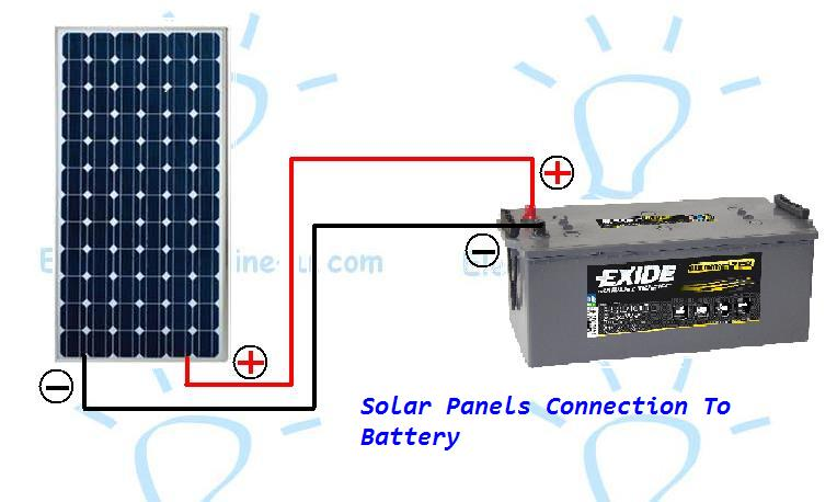 how to connect a solar panel to a battery electrical online 4u rh electricalonline4u com wiring up solar panels in parallel wiring up solar panels motorhome