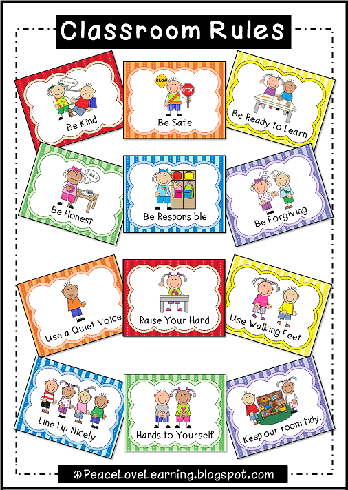 Adorable Classroom Rules Posters with pictures that really illustrate expectations.