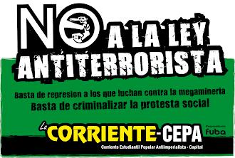 NO A LA LEY ANTITERRORISTA