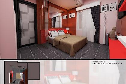 Jasa Pembuatan Gambar Interior Desain Kamar Tidur Anak Minimalis Modern hanya 350ribu