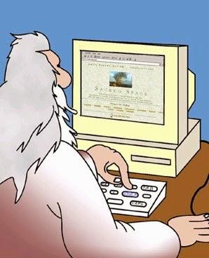 Dios creando el Universo en su computadora