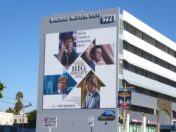 The Big Short movie billboard