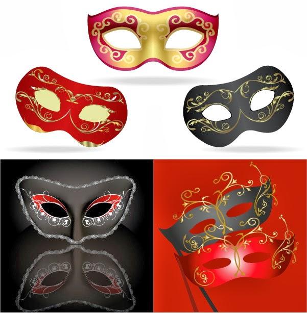 Máscaras de carnaval - Vector
