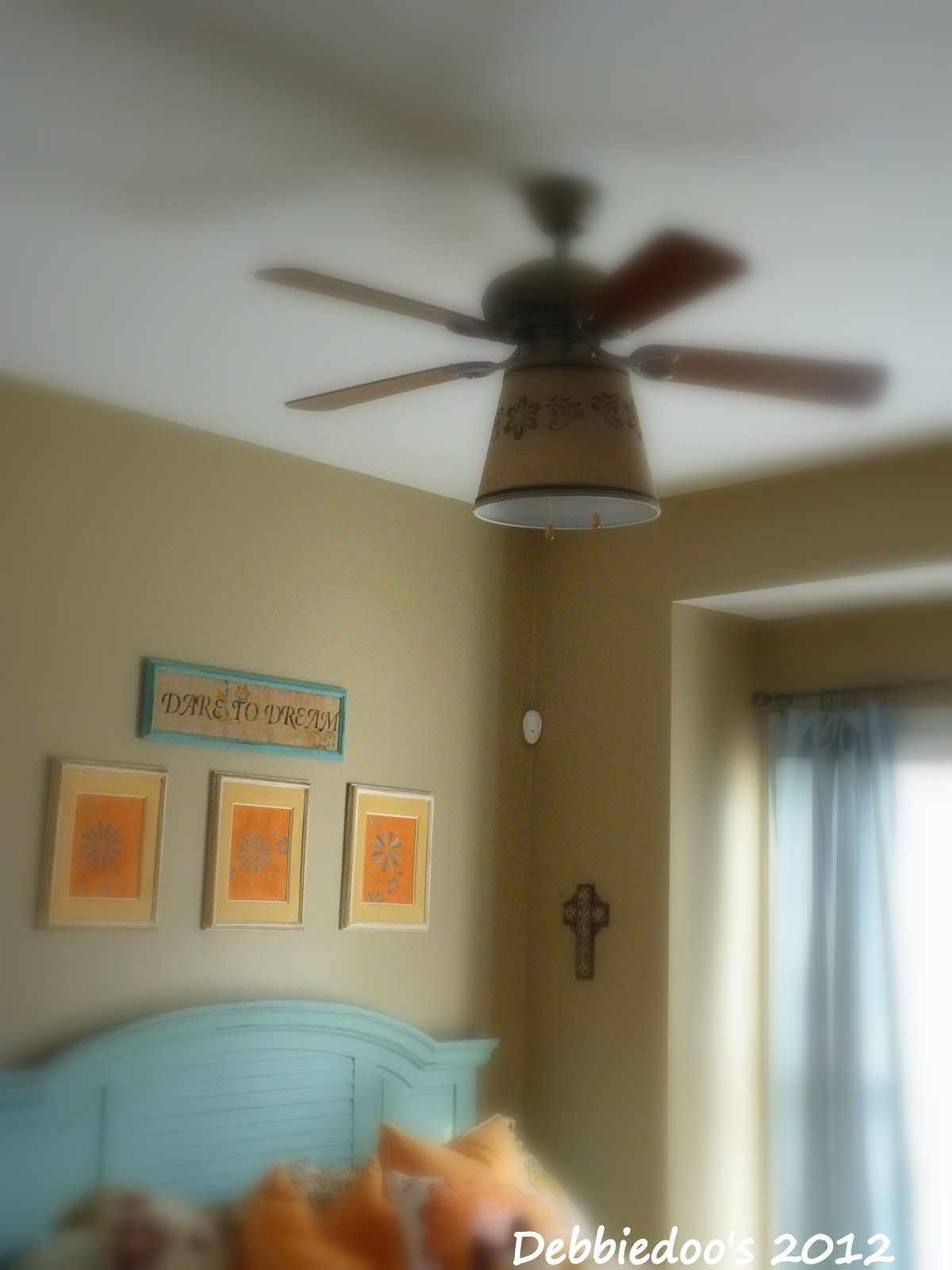 Drum shade for ceiling fan Debbiedoos