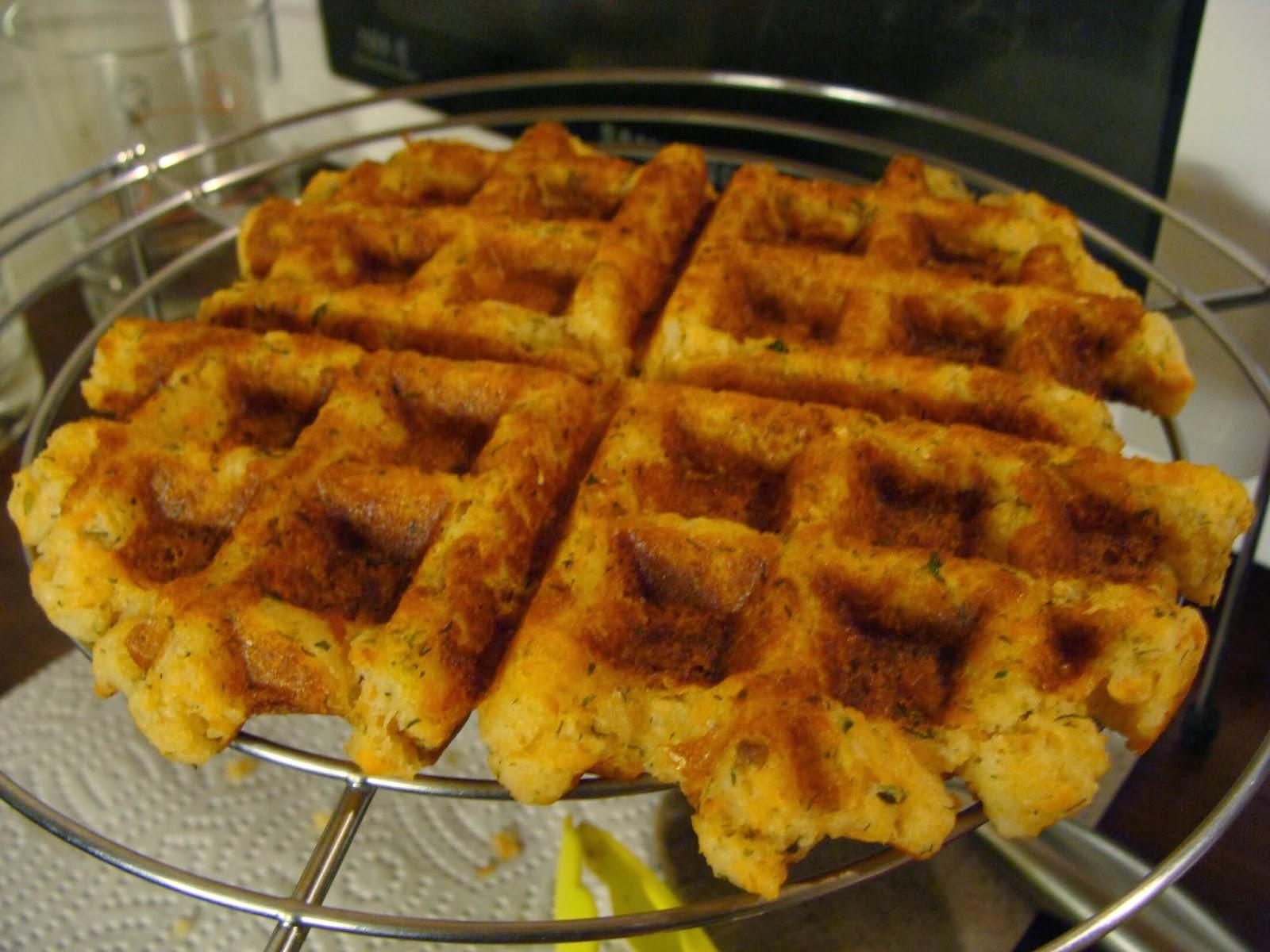 salmon waffles