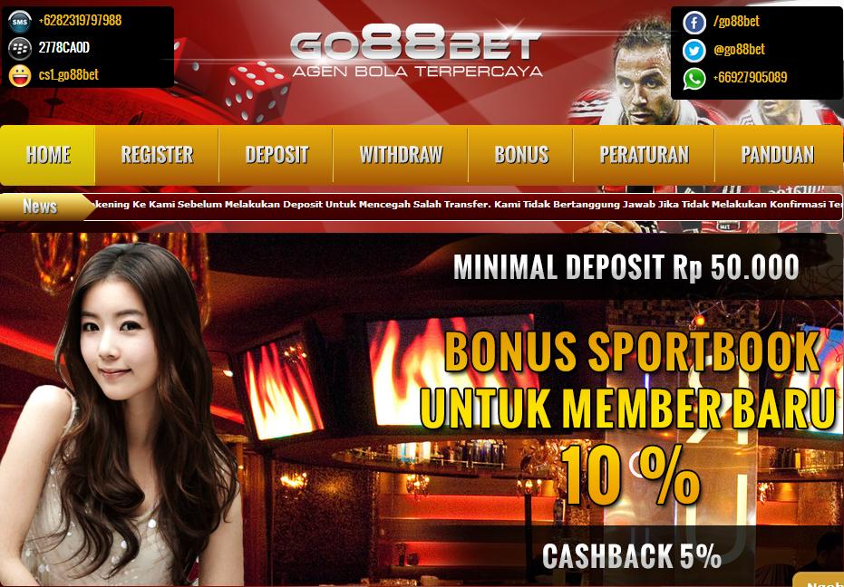 Go88bet.com Agen Judi Bola Online, Agen SBObet Terpercaya