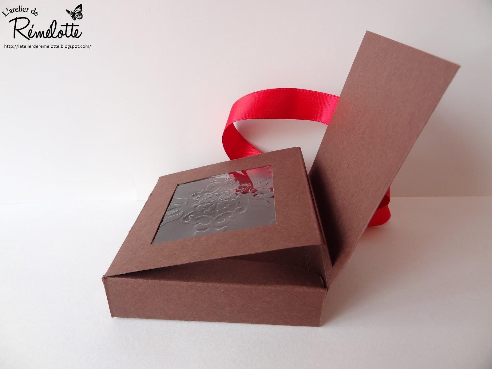 L 39 atelier de r m lotte gabarit petite boite chocolats - Patron boite en carton rectangulaire ...