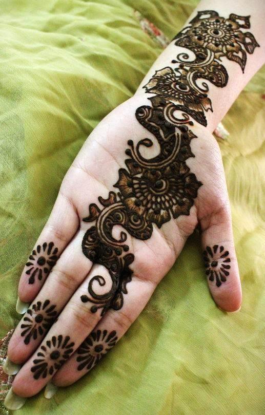 Best Arabic Bridal Henna Designs For Full Hand