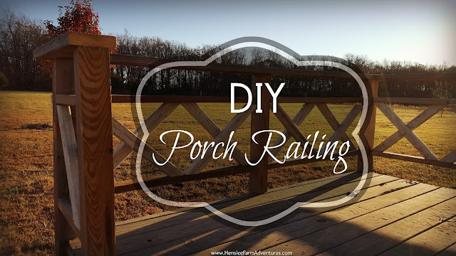 DIY Porch Railing