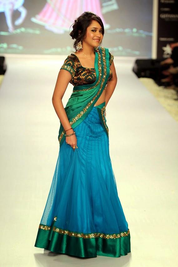 Half-Half Designer Saree