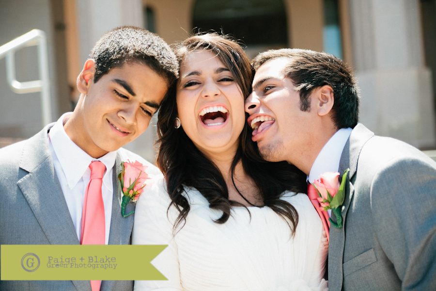 Bride with Brothers  : Photo by Paige and Blake Green