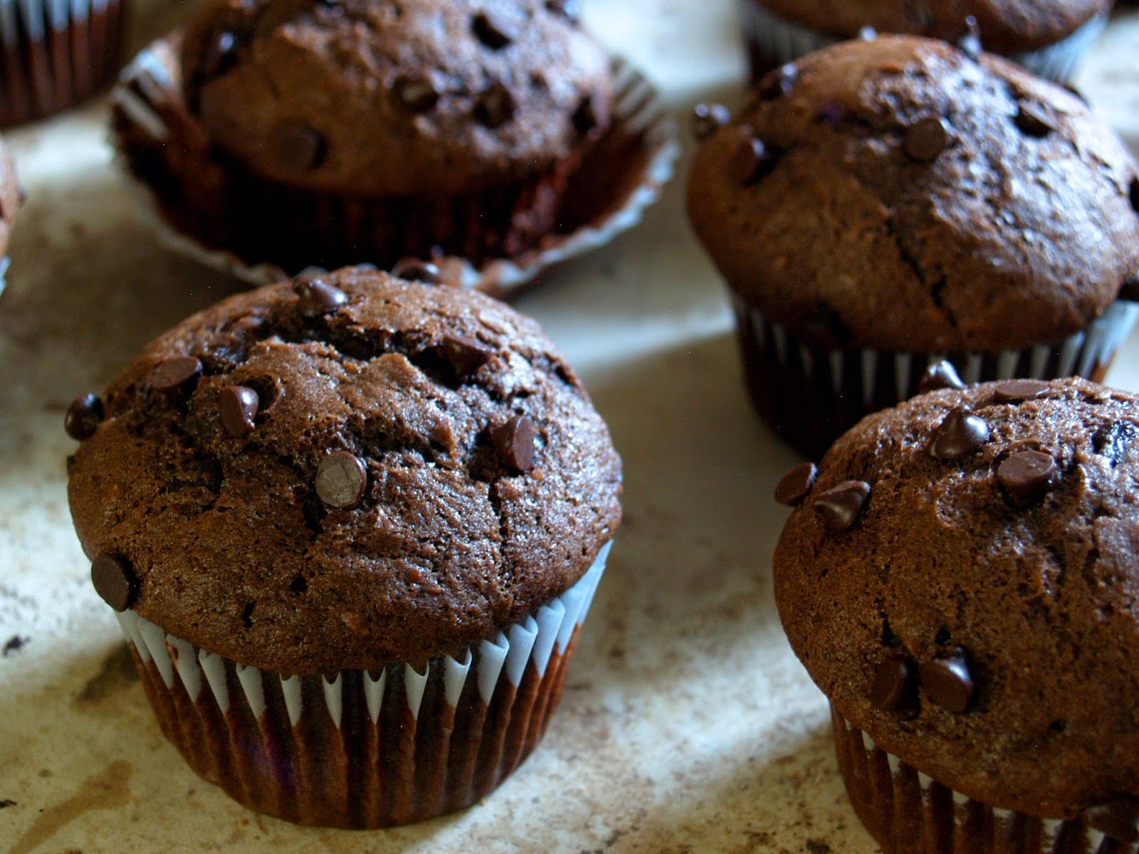 Hungry Hungry Highness: One Bowl Double Chocolate Banana Muffins