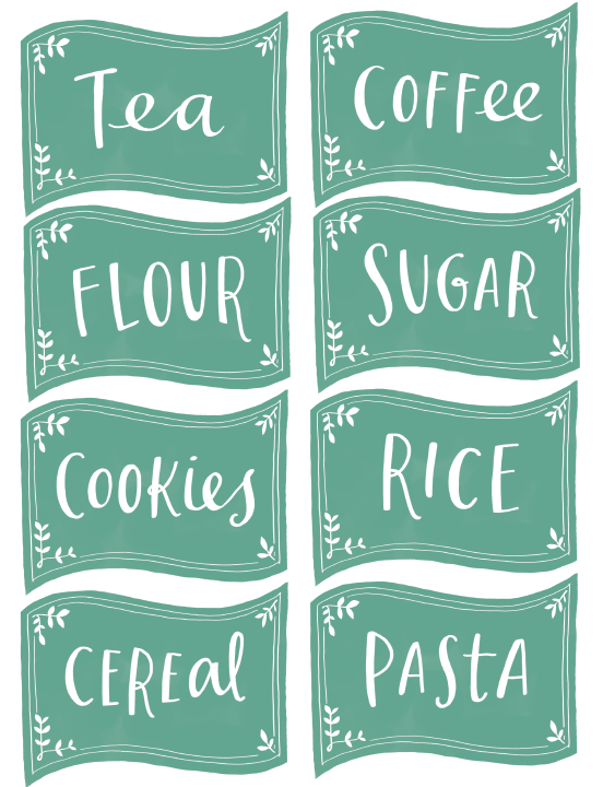 Free Printable Kitchen Organisation Labels