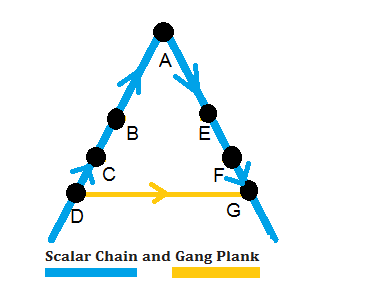 scalar chain and Gang Plank : Chapter 2. Principles Of Management | Business Studies | CBSE Class XII (12th)  | Questions & Answers