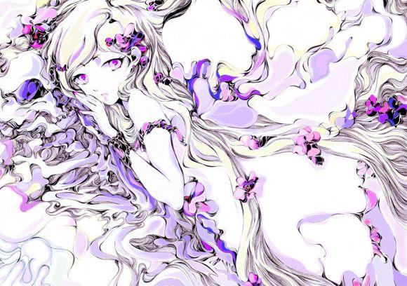 Charmal ilustrações mulheres garotas estilo anime mangá Garota solitária