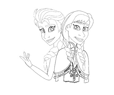 #3 Disney Frozen Coloring Page