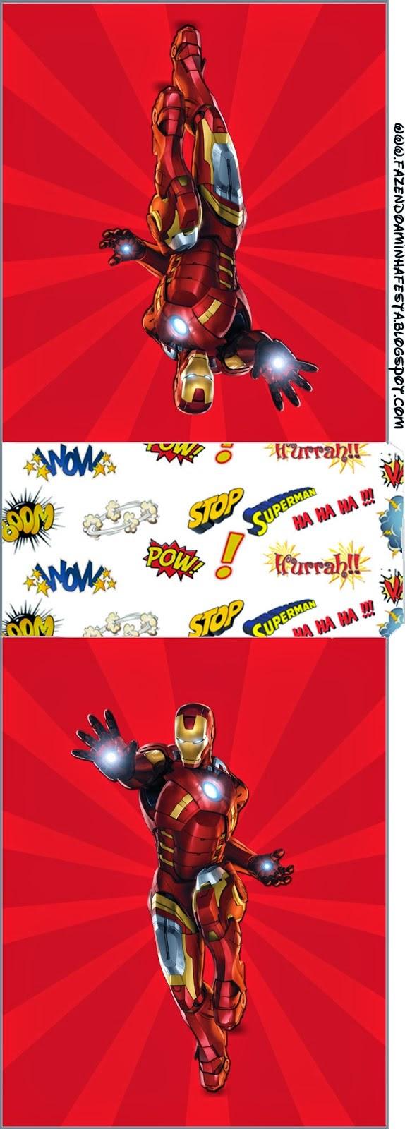 Etiqueta Tic Tac de Iron Man para Imprimir Gratis.