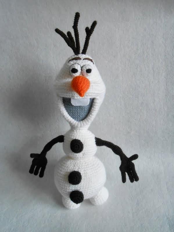 Crochet Pattern For Olaf : Kasiulkowe prace szydeLkowe: Olaf z Krainy Lodu