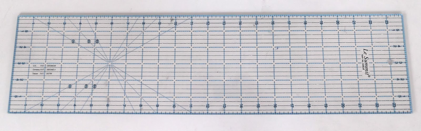 quilting ruler, transparent ruler, fabric ruler, patchwork ruler